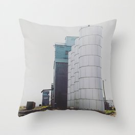 Fading Tracks Throw Pillow