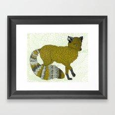 Gold Fox Framed Art Print