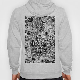 a mysterious black and white life Hoody