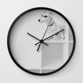 Puppy watching Wall Clock