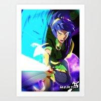 Melee | Marth - Green Art Print