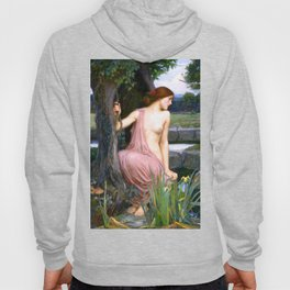 Echo And Narcissus WM Waterhouse Hoody