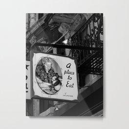 A place to eat - B&W Metal Print