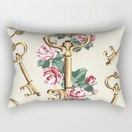 Vintage Floral Key Rectangular Pillow