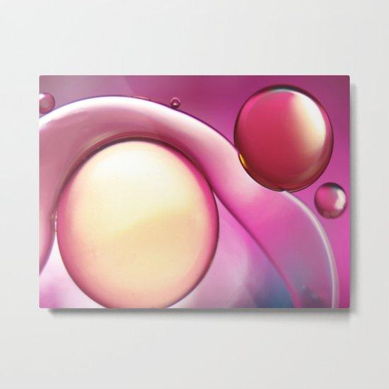 Oil On Water  Yin-Yang Metal Print