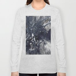 wood flower_blue Long Sleeve T-shirt