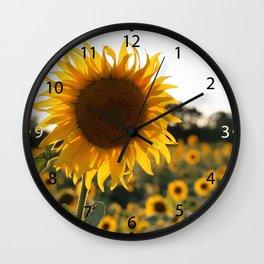 Sunflower garden. Wall Clock