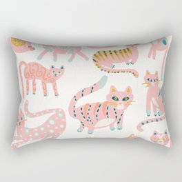 KittyKats - Pink Palette Rectangular Pillow