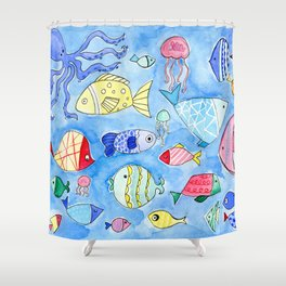 Aquarium Fish for Summer Shower Curtain