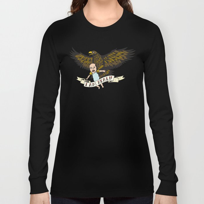 "Golden Eagle: ""I AM REAL!"" Long Sleeve T-shirt"