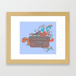 Retro Music Framed Art Print