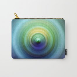 Aqua and Emerald Swirl Carry-All Pouch