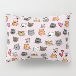 cats pattern pink Pillow Sham