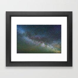 Stars above Mongolia Framed Art Print