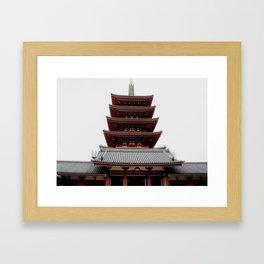 Five-storied Pagoda - Senso-ji Framed Art Print
