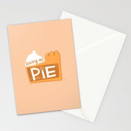 Easy as Pumpkin Pie Stationery Cards