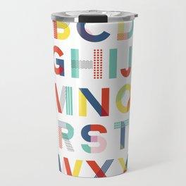 Modern Alphabet Print Travel Mug