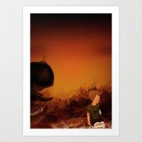 Forgotten sunrise Art Print