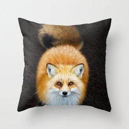 Patient Fox Throw Pillow