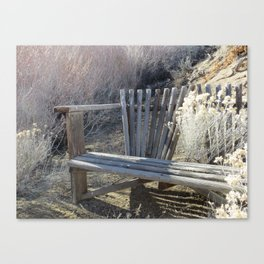 Silver Bench Canvas Print