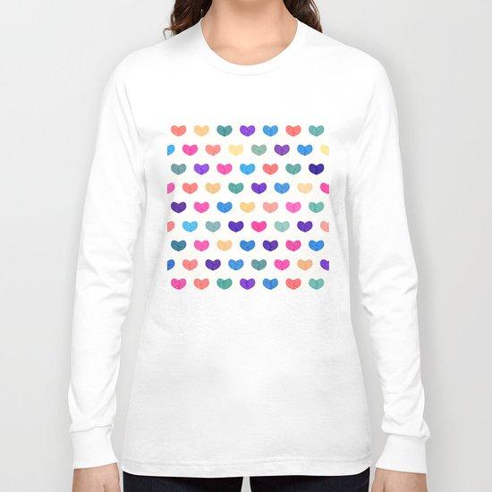 Colorful Cute Hearts III Long Sleeve T-shirt