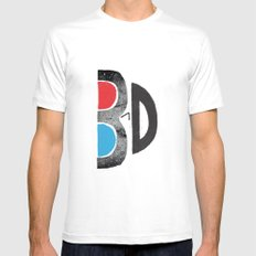 I Like It 3D MEDIUM White Mens Fitted Tee