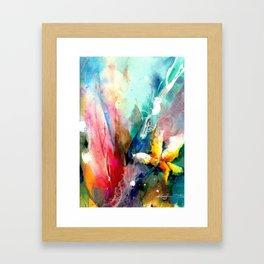 Yellow Flower by Kathy Morton Stanion Framed Art Print