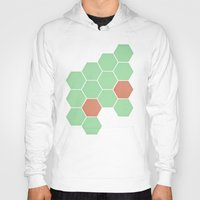 honeycomb Hoodies featuring Mint Honeycomb by Cassia Beck