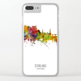 Stirling Scotland Skyline Clear iPhone Case