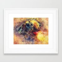 monkey Framed Art Prints featuring Monkey by jbjart