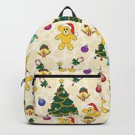 Christmas bear,bells and tree SB3 Backpack