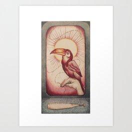 El Tucan Platicador Art Print