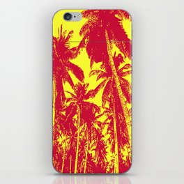 Palm Trees Design in Red and Yellow iPhone Skin