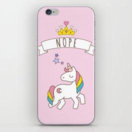Nope Unicorn iPhone Skin