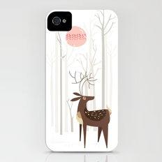 Reindeer of the Silver Wood iPhone (4, 4s) Slim Case