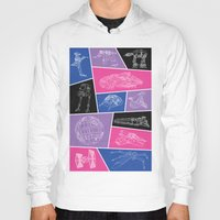 ships Hoodies featuring Ships by Dorothy Leigh