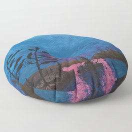 Sunset at the Lake Floor Pillow