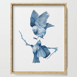 Blue Birds Serving Tray