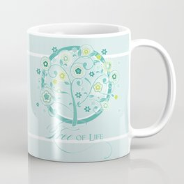 Tree of Life Floral Damask Watercolor Pattern Coffee Mug