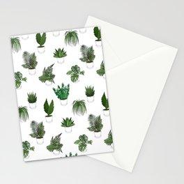 Houseplants Illustration (white background) Stationery Cards