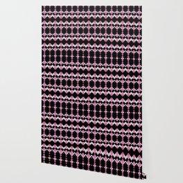 Pink Flamingos Art Deco Pattern Wallpaper