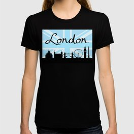London Script on Union Jack Sky & Sites T-shirt