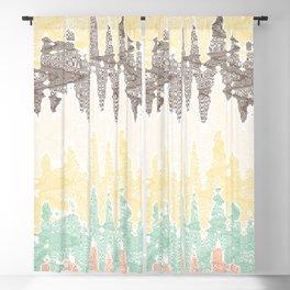 Digital painting Blackout Curtain