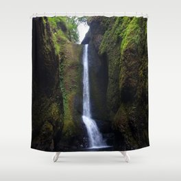 Lower Oneonta Falls, Oneonta Gorge, Oregon Shower Curtain