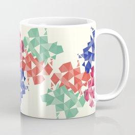 Background of geometric shapes. Colorful mosaic pattern Coffee Mug