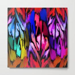 Feather Rainbow Metal Print