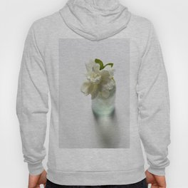 White Gardenia in Aqua Blue Vase Hoody