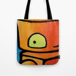 Robot - I See You Looking Back At Me Tote Bag