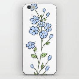 Forget Me Nots iPhone Skin