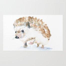 Hedgehog Watercolor Rug